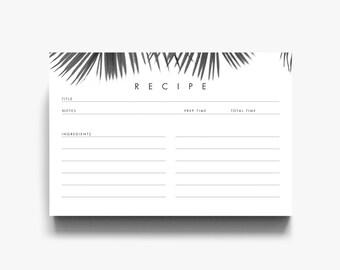 Printable Recipe Cards, Recipe Template, Recipe Card Template, Recipe Card, Recipe Card Printable, Recipe Cards 3x5, Recipe Cards 4x6