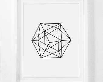 geometric art etsy