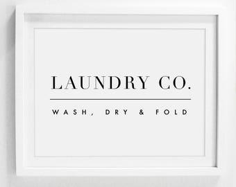 Laundry Wall Decor, Laundry Sign, Laundry Room Sign, Printable Laundry Art, Laundry Room Art, Wash Dry Fold, Laundry Printable, Laundry Co