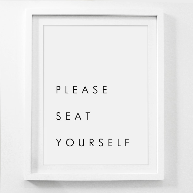 graphic regarding Bathroom Sign Printable named You should Seat Oneself Printable, Humorous Toilet Indicators, Rest room Wall Decor, Rest room Decor Amusing, Seat You Lavatory Indicator, Printable