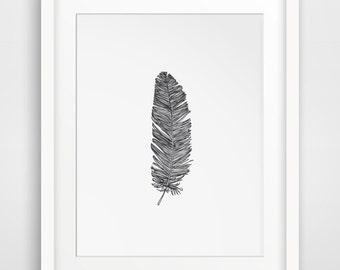 Farmhouse Decor, Farm House Art, Feathers, Feather Decor, Wallart Printables, Farm House Decor, Wallart, Feather Printables, Feather