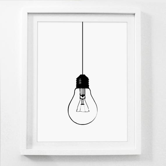 graphic relating to Light Bulb Printable named Mild Bulb Print, Light-weight Bulb Artwork, Commercial Wall Artwork, Professional Artwork Models, Printable Classic Artwork, Common Printable, Commercial Decor