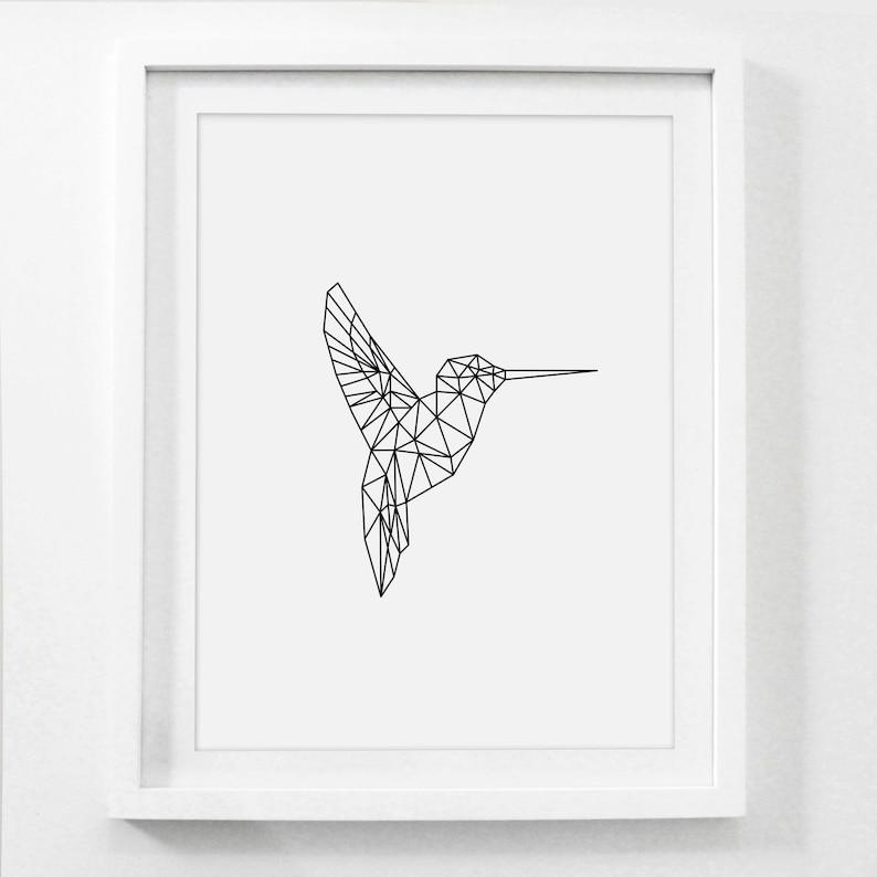 photograph regarding Printable Art Prints named Geometric Animal, Hummingbird Print, Printable Nursery Artwork, Hummingbird Artwork, Hummingbird Wall Artwork, Nursery Artwork Prints, Printable Baby Art