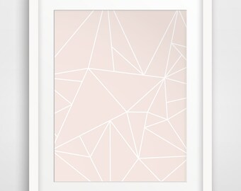 Abstract Pink Art, Modern Prints, Pink Geometric Art, Pink Abstract, Geometric Pink Prints, Pink Artwork, Printable Art, Wall Prints
