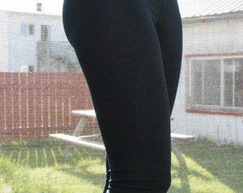 de6dcb29c Long black Leggings or 3 4 with little pleated