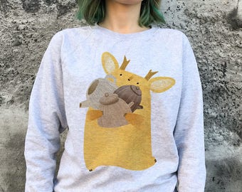 Tea tukoni vegan sweatshirt girls sweatshirt women gift ladies tea jumper tukoni lover forest sweater nature