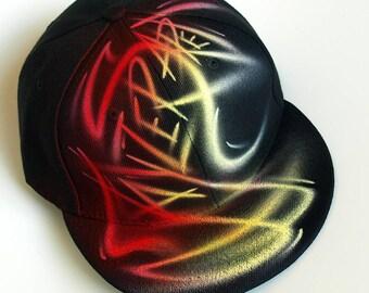 Custom airbrush snapback hat cool birthday gift for teens | Etsy