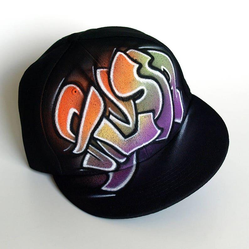 15c91df18f265 GRAFFITI custom SNAPBACK hat CUSTOM name initials hand