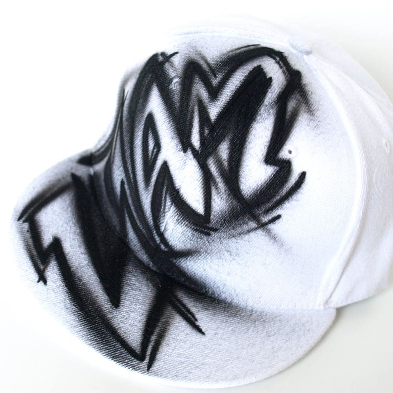 Custom Snapback Cap Graffiti Painted Name Hat Initials One