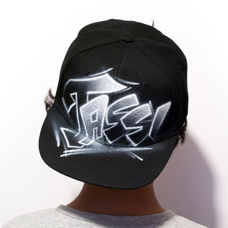 0505f08706b8e Personalized hat with your name airbrush hat graffiti tag