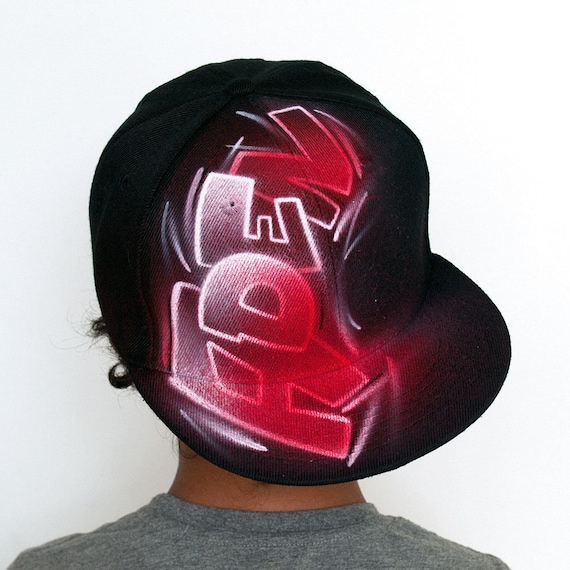 Painted Snap Back Hat With Your Custom Graffiti Name Initials