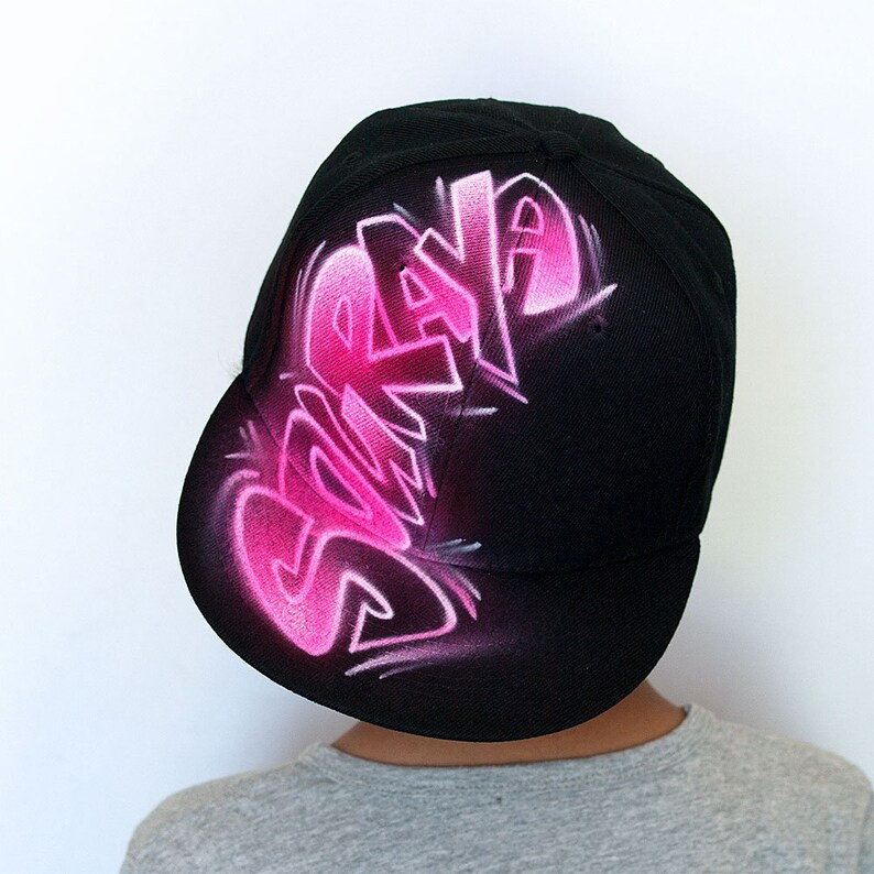 feac2f450569f Graffiti name hat airbrush hat painted hat any colors Best