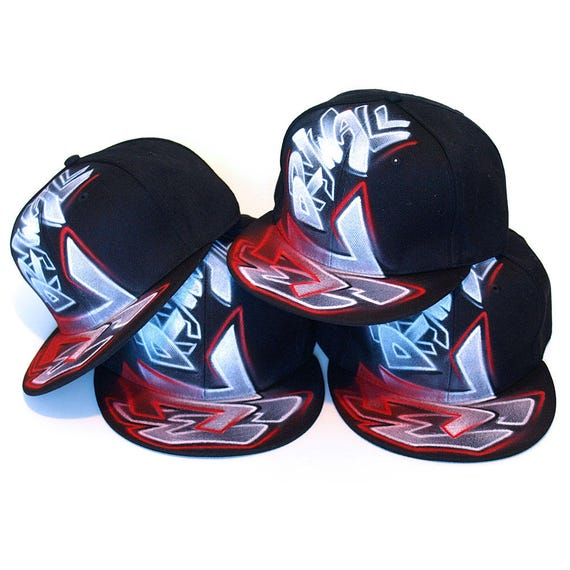 f685bd8b2a0 CUSTOM Team Caps GRAFFITI airbrush SNAPBACK Hats new era