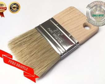 "DB2.5 CHALK PAINT pure bristle Glaze Stain FLAT 2.5"" 63mm Poly Brush Finishing easy grip tool"