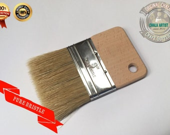 "DB3 CHALK PAINT pure bristle Glaze Stain FLAT 3"" 75mm Poly Brush Finishing easy grip tool"