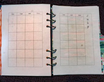 Yearly Diary Undated, Printed Insert, A5, Personal or Pocket Sizes, Filofax, Kikki K, Paperchase (RYD00)