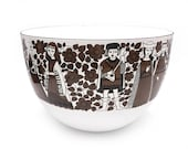 Finel Enamel Bowl Troubadour Ritari Design by Esteri Tomula Excellent Condition