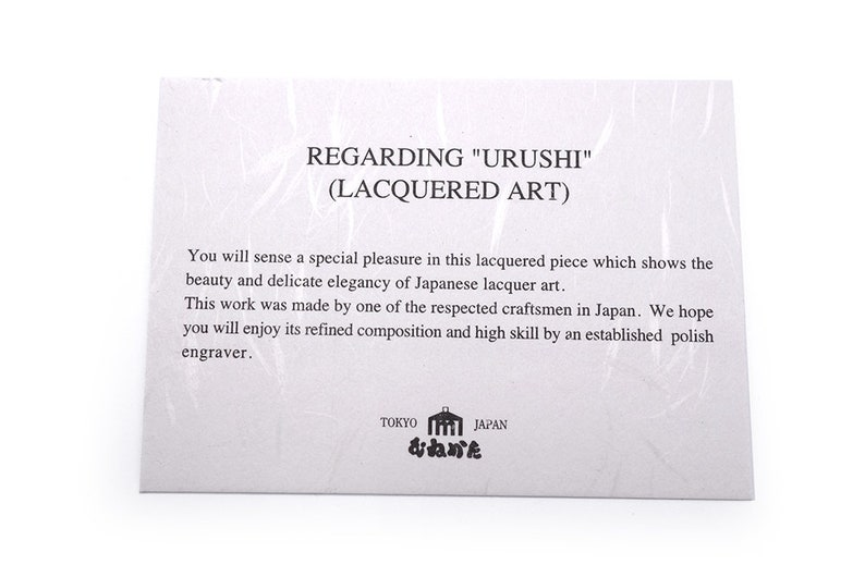 Vintage Urushi Lacquerware Photo Frame Folding Frame Moon and Cherry Blossoms