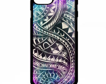 567b7e076 Maori samoan polynesian tribal tattoo colourful print pattern cover for  Samsung Galaxy S5 S6 s7 s8 plus edge note 4 5 phone case