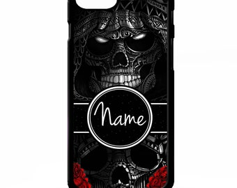fadb4a112 Grim reaper sugar skull rose tattoo death graphic personalised name cover  for iphone 4 4s 5 5s 5c SE 6 6s 7 8 plus X phone case