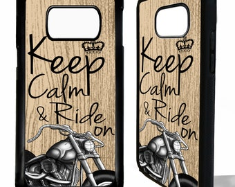 Motorbike keep calm and ride on motorcycle chopper rubber protective cover for samsung galaxy s5 s6 s7 s8 s9 plus edge phone case