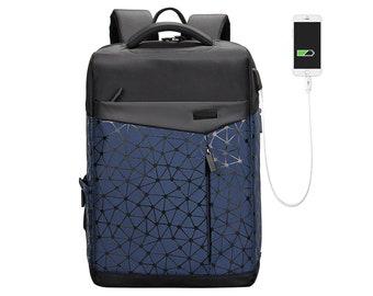 0bdcd7d31b Men Backpack Laptop 15.6 College Charging Rucksack Water Resistance Bag