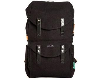 ab69bacf89 Mens Canvas Backpack School College Bag Laptop Rucksack 9017