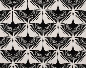 Art Deco Velvet Fabric By The Yard Swan Home Decor Fabric Etsy
