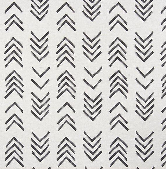 Ships Fast Mud Cloth Print Home Decor Fabric Black Natural Etsy