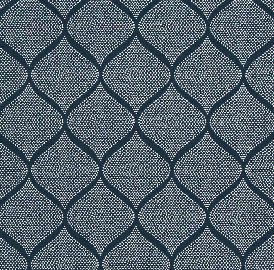 Navy Blue Trellis Upholstery Fabric Blue Moroccan Tile Etsy