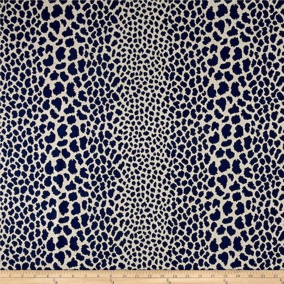 Indigo Blue Cheetah Upholstery Fabric Animal Print Fabrics Etsy