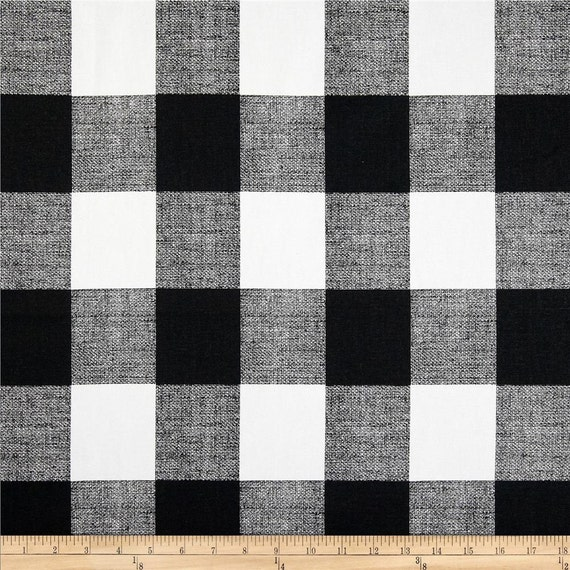 Ships Same Day Black And White Buffalo Check Fabric Designer Etsy