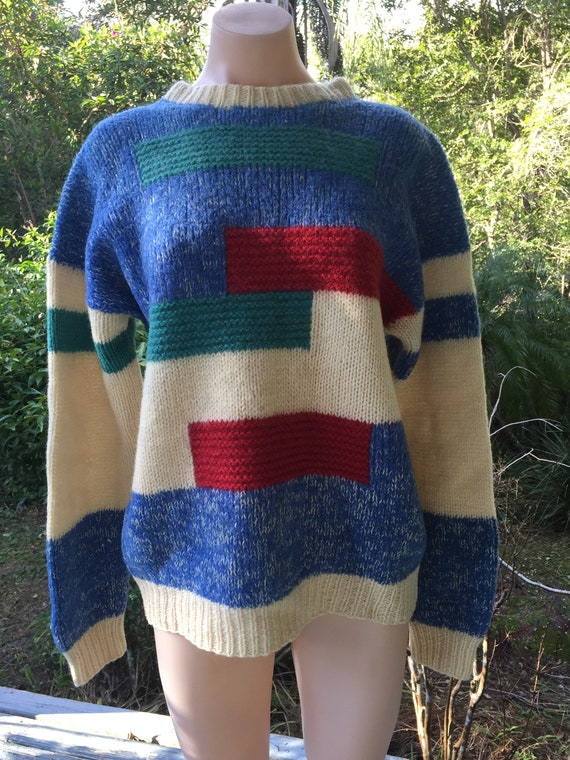 Retro mohair jumper, retro sweater, vintage woolen