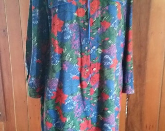Vintage eighties Stitches Australia floral dress size 16