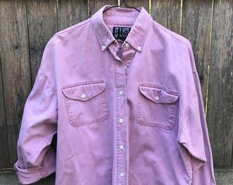 Pastel Pink/Lavender Denim Button Up