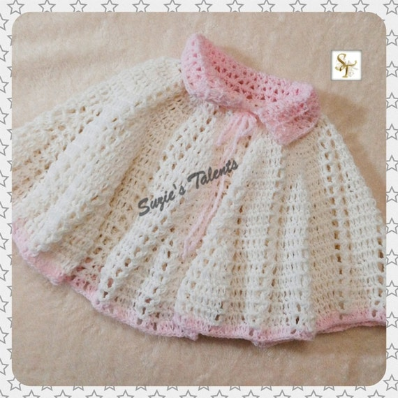 Pattern Pt086 Crochet Baby Shawl With Collar Pattern Etsy