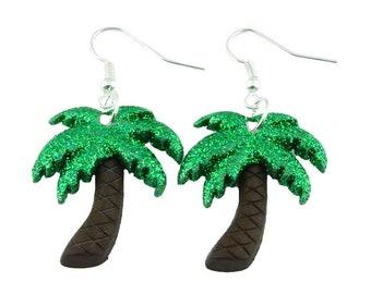 f4296438b TFB - TROPICAL ISLAND Glitter Palm Tree Dangle Earrings - Complete with  gift box
