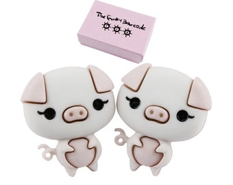 8e7b0eac2 TFB - PRESLEY PIG Stud Earrings - Complete with gift box