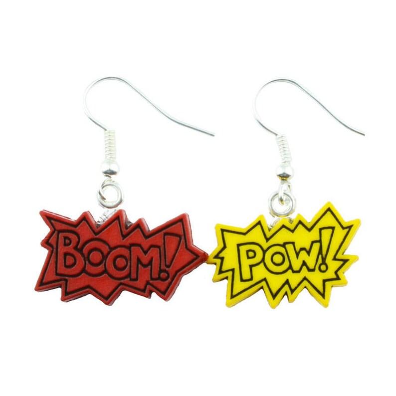 NECKLACE Comic Book Cartoon Funky Retro Cool Novelty TFB POW SUPERHERO BOOM
