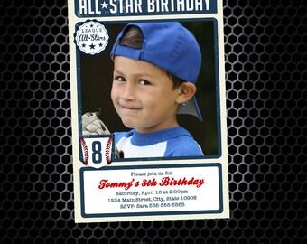 Baseball Card Inspired Printable Birthday Invitation