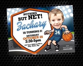 Basketball Invitation - Basketball Party - Basketball Birthday - Hoops - Sports Birthday - Printable Party - Basketball Court
