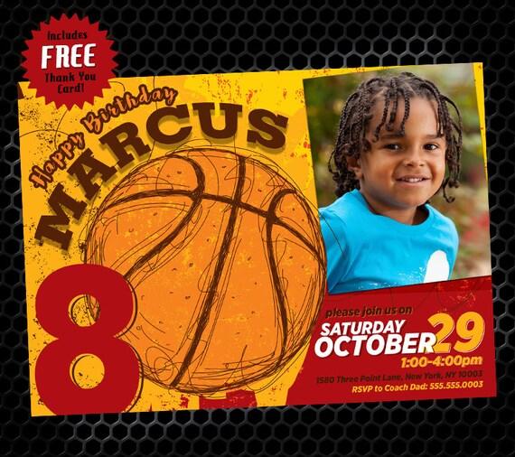 basketball invitation basketball birthday party invitation etsy