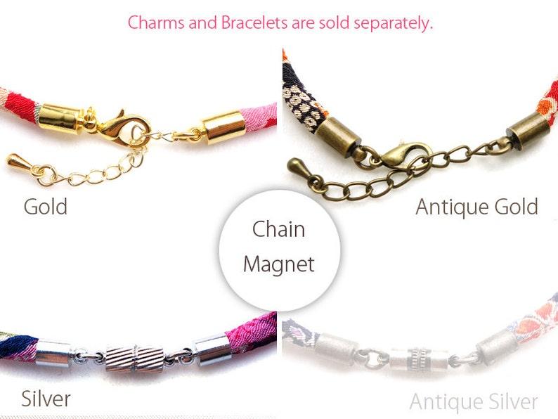 Choker necklace Japanese Jewelry HANA MORI - Tiny Sakura in the night black Kimono Bracelet