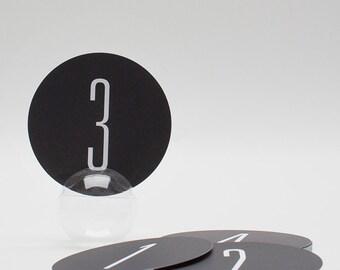 Numéros de Table de mariage moderne (15), numéros de Table noir et blanc, papier de mariage