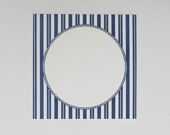 Nautical Table Cards (12), Wedding Table Numbers, Wedding Cards, Wedding Paper, Blue and White Striped Table Number