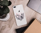 Cute Geometric Sloth - Phone Case for iPhone 6/6s, 6/6s Plus, iPhone 7/8, 7/8 Plus, iPhone X/XS, XR, iPhone XS Max - Gift for Sloth Lovers