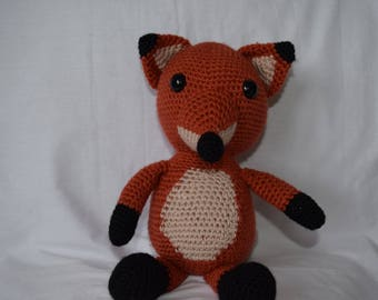 Crochet Fox, Fox Toy, Crochet Toy, Woodland Animal, Baby Crochet, Nursery Toy, Baby Shower