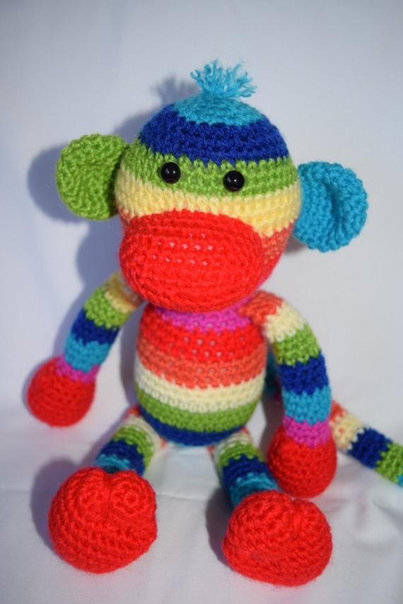 747e8529c Sock Monkey Crochet monkey Crochet toy Present Gift