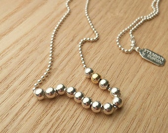 """Extra Long necklace for woman - Long Bead necklace - Long silver necklace - Beaded Sautoir - silver necklace for woman / """"J'adore Gold"""""""
