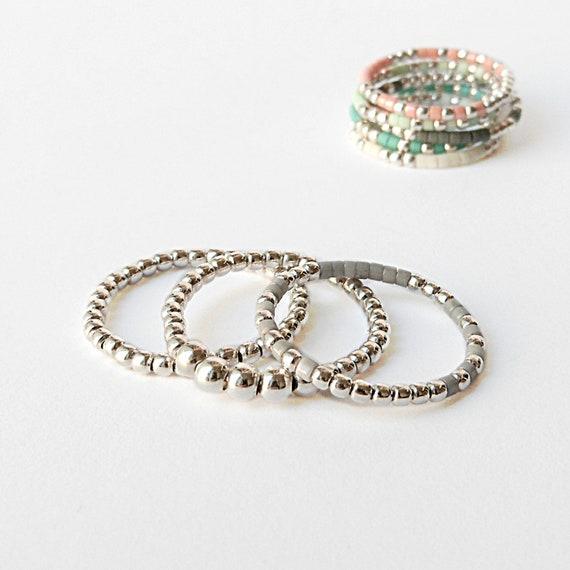 bague argent 12 anneaux